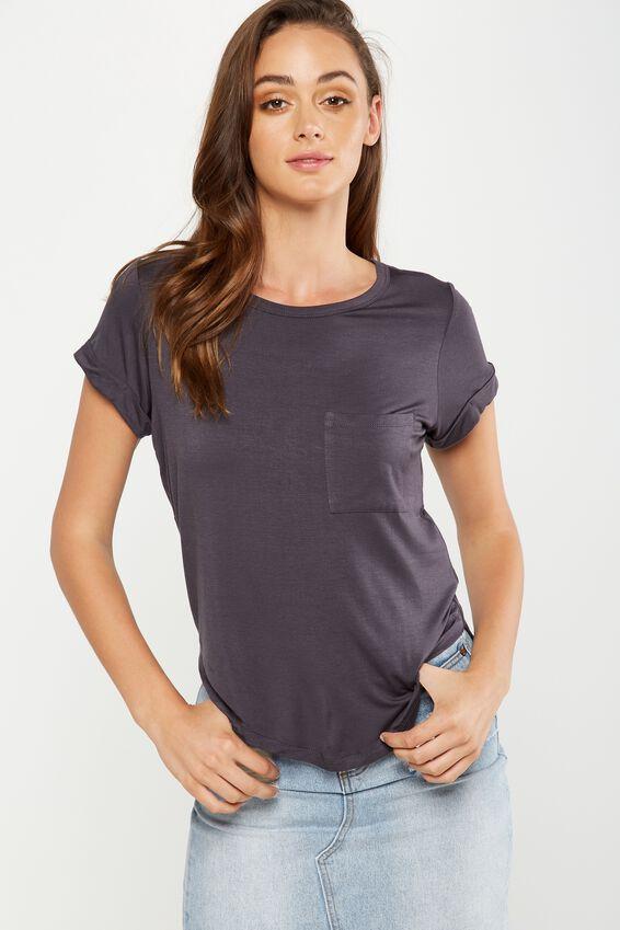 Kathleen Short Sleeve Top, EBONY