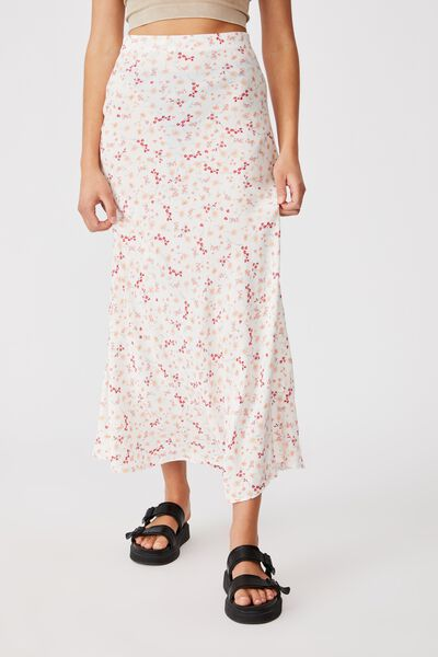 All Day Slip Skirt, JORDIE FLORAL WHITE