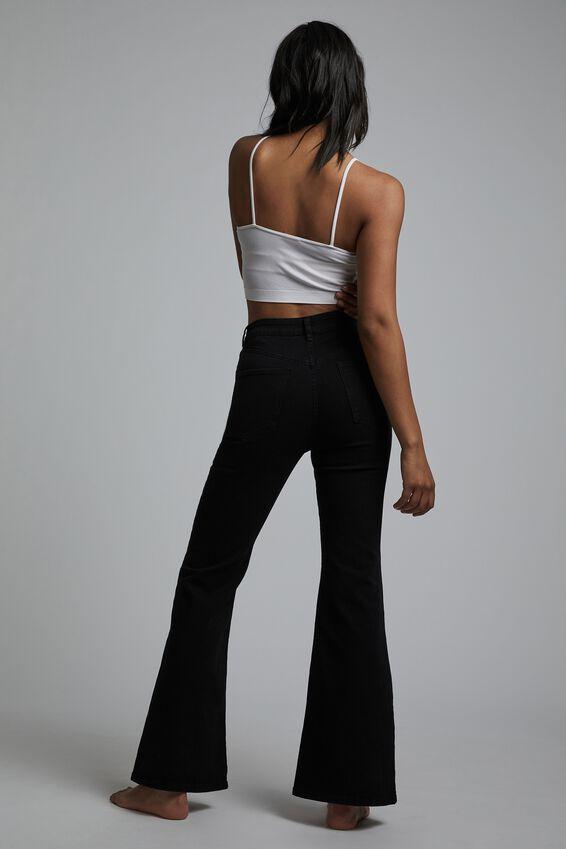 Original Flare Jean, BLACK