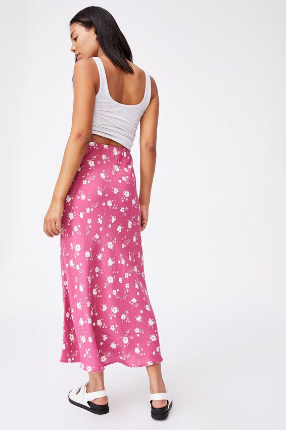 All Day Slip Skirt, SABRA FLORAL MALAGA