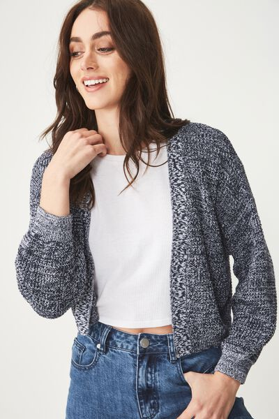 Archy Summer Cardi, MOONLIGHT/WHITE TWIST