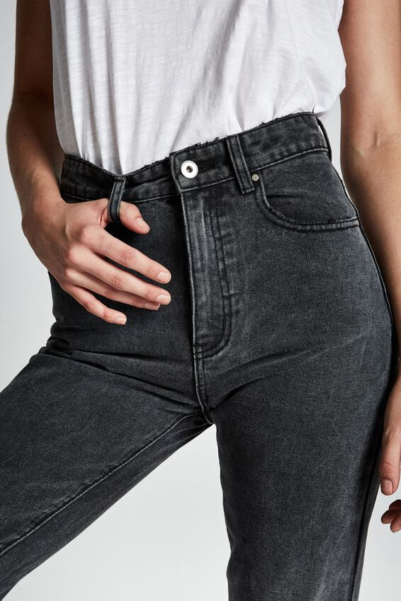 Mom Jean, SUPER WASH BLACK