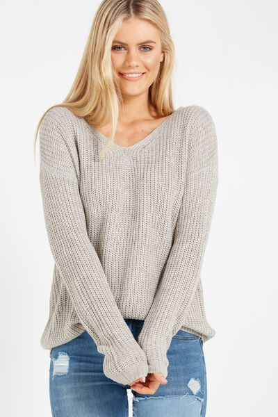 Casey Corset Back Pullover, GREYS TWIST