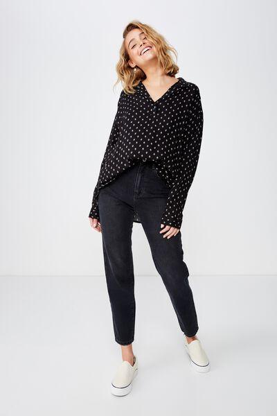 Leah Casual Shirt, ISLA LEAF BLACK