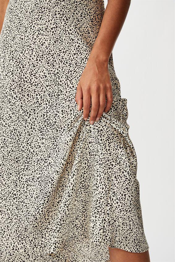 Belle Bias Midi Skirt, NATALIE SPOT PARCHMENT