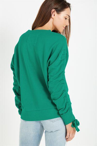 Jade Rouched Sleeve Sweater, JADE