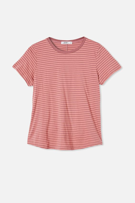 The One Crew Tee, SOPHIE STRIPE MALAGA/MUSK PINK