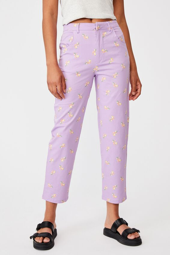 Happy Pant, ARABELLA FLORAL FROSTY LILAC