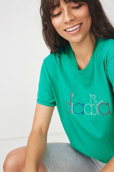 Diadora Logo Regular Tee, VIVID GREEN