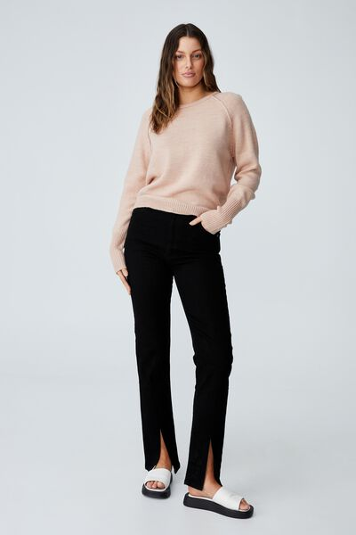 Australian Wool Blend Pullover, PALE PINK
