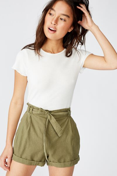 Riley High Waist Short, WINTER MOSS