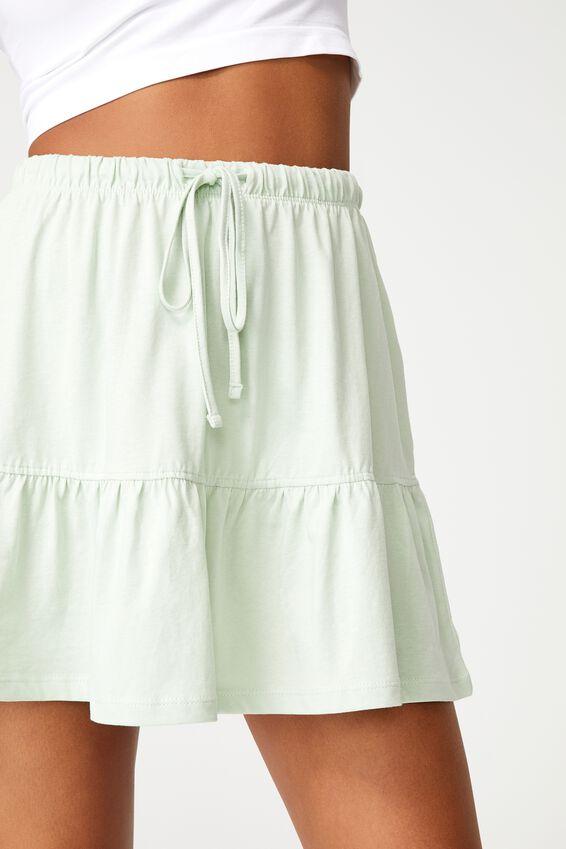 Tori Tiered Mini Jersey Skirt, SPRINT MINT
