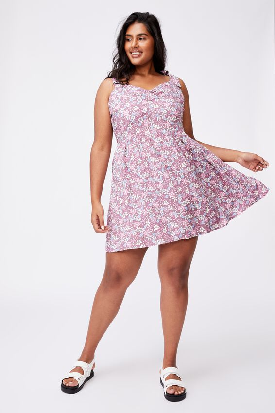 Curve Marni Mini Dress, GIA DITSY SOFT MAUVE