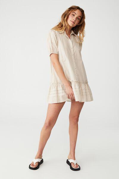 Woven Petite Rosie Mini Dress, POLLY PINSTRIPE PASTRY