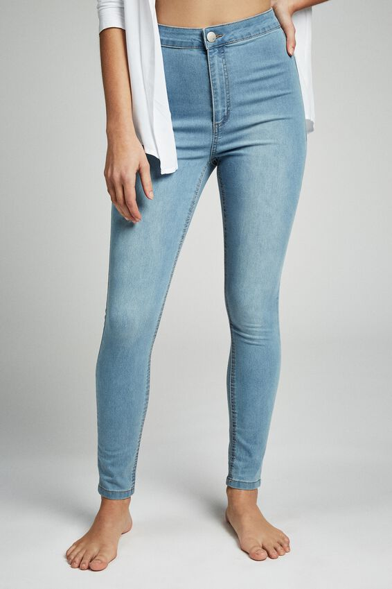 High Rise Jegging, SKYWAY MID BLUE