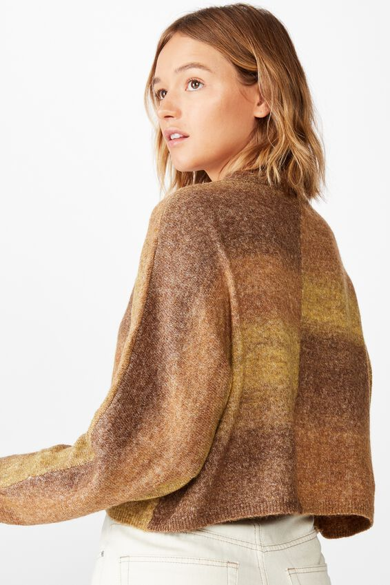 Serena Cropped Batwing Pullover, YELLOW OMBRE