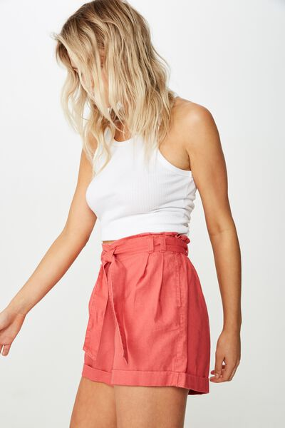 Riley High Waist Short, MINERAL RED