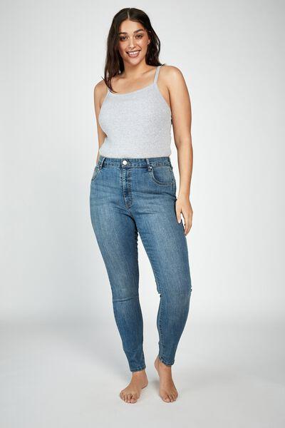 Curve Adrianna Full Skinny High Jean, BLUE