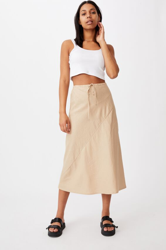 Sunset Lover Midi Skirt, WARM STONE