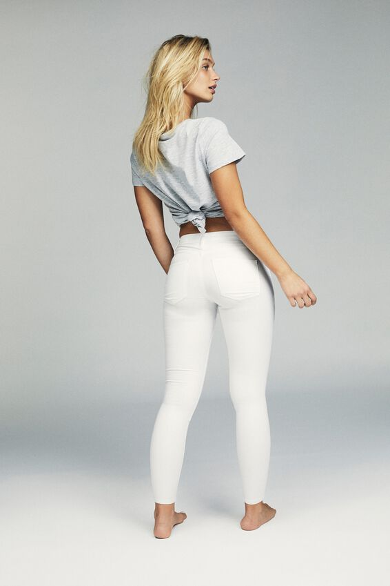 Mid Rise Jegging, WHITE