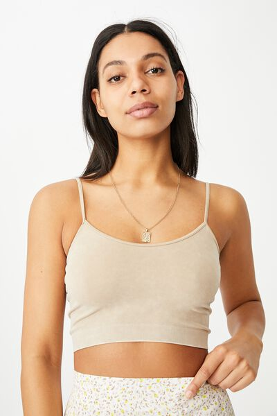 Isla Seamless Cami, WASHED VINTAGE TAUPE