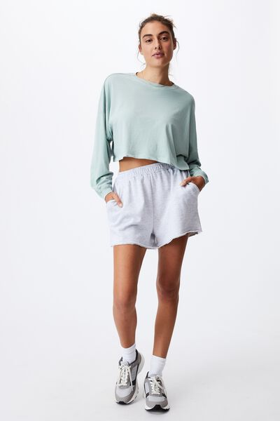 Kyle Batwing Long Sleeve Top, WASHED LUSH GREEN
