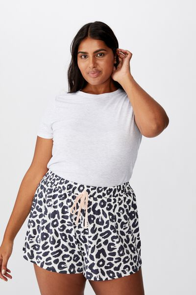 Curve Jersey Bed Short, TWO TONE LEO MONO