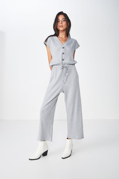 Dea Wide Leg Jumpsuit, GREY MARLE