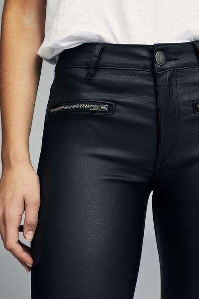 Mid Rise Grazer Skinny Jean, BLACK COATED ZIP