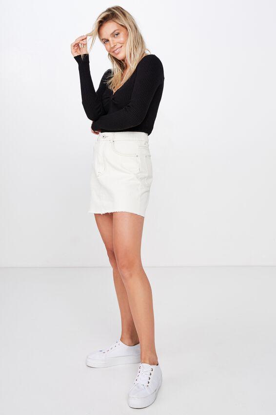 Roxy Twist Front Pullover, BLACK