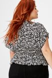 Curve The Ultimate Tea Blouse, TAYLAH DITSY PIRATE