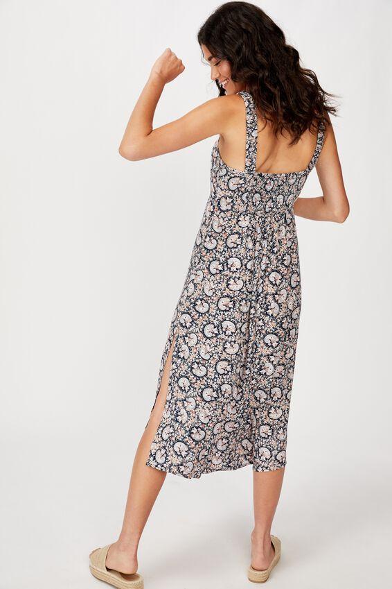 Woven Melanie Midi Slip Dress, JANE PAISLEY TOTAL ECLIPSE
