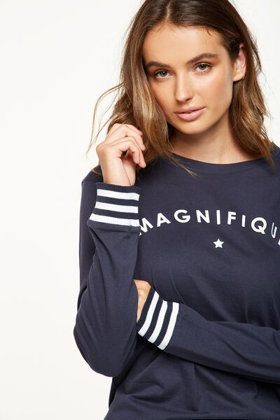 Tbar Tammy Chopped Graphic Long Sleeve Tee, MAGNIFIQUE/MOONLIGHT