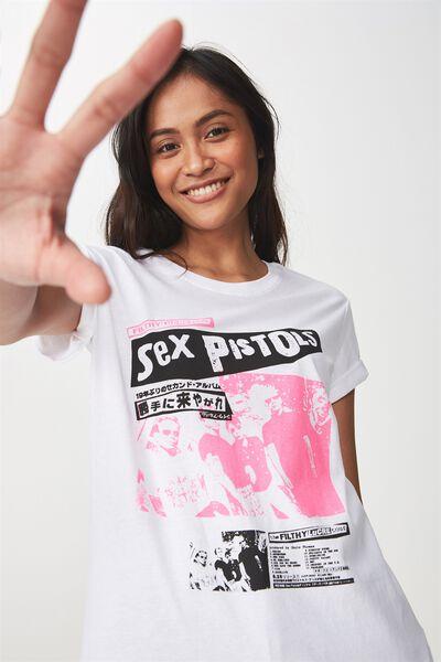 Tbar Fox Graphic T Shirt, LCN SEX PISTOLS/WHITE