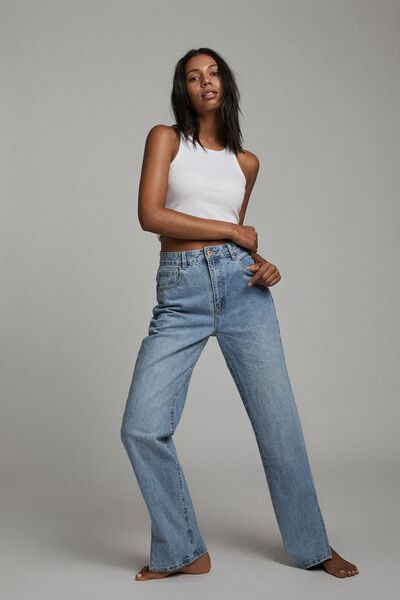 Straight Split Jean, LENNOX BLUE