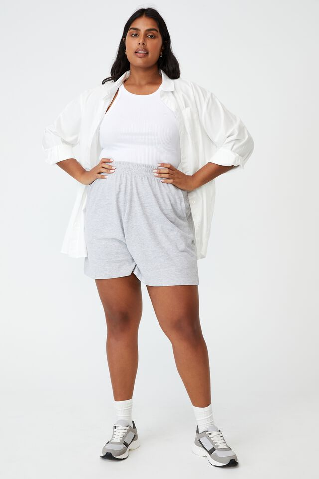 Curve Courtside Jersey Short, SOFT GREY MARLE