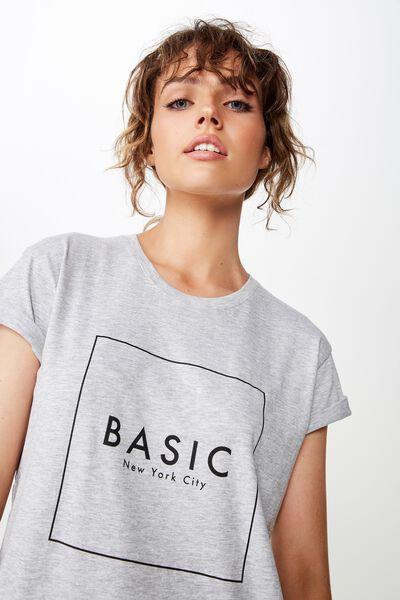 e2450abd73c1 Classic Slogan T Shirt, BASIC NEW YORK CITY/GREY MARLE