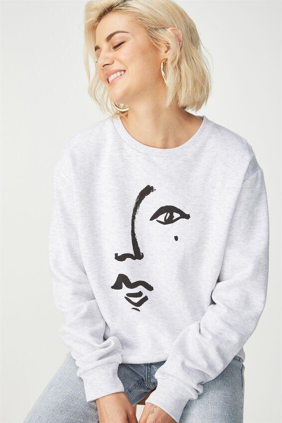 Ferguson Graphic Crew Sweater, BEAUTY SPOT/SILVER MARLE