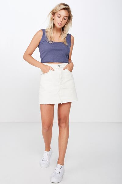 The Sister Crop Tank, CROWN BLUE MARLE