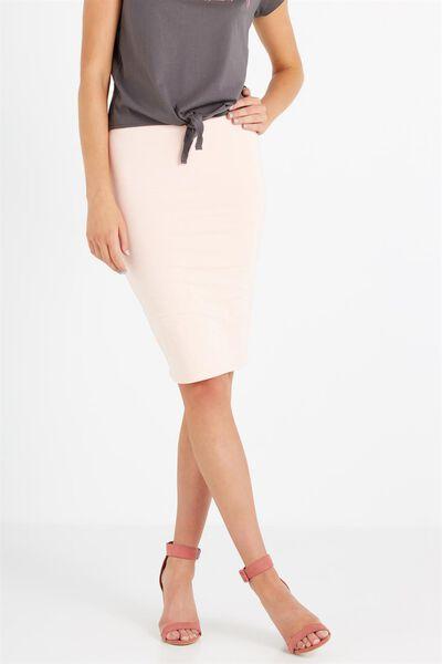 Midi Tube Skirt, PINK SAND