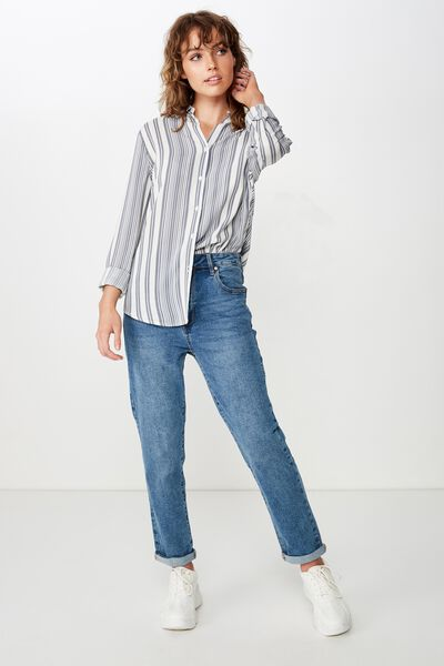 Rachel Everyday Shirt, ALLIE MULTI STRIPE SLEET
