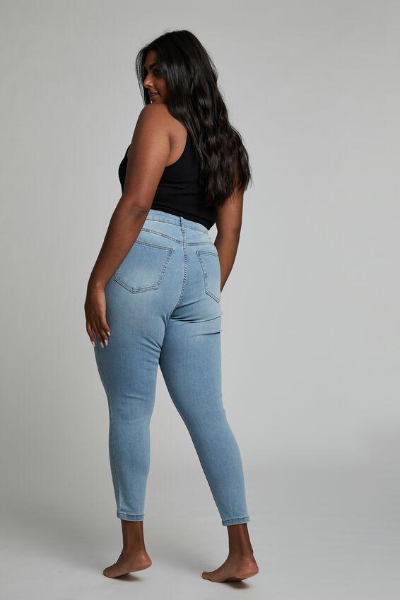Curve Adriana High Crop Skinny Jean, OCEAN BLUE
