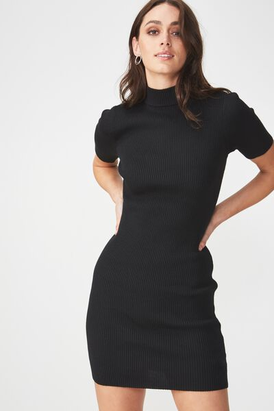 Avon Bodycon Mini Dress, BLACK