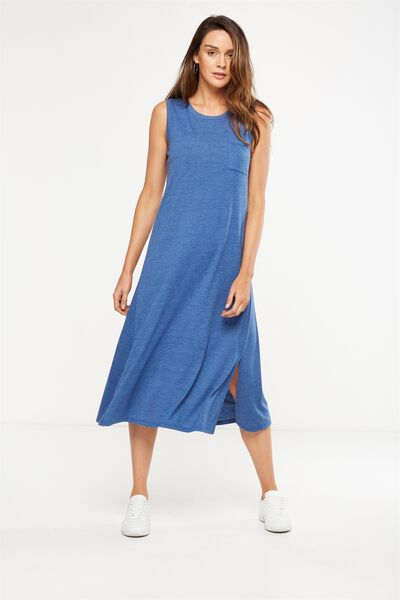 Issac Tank Maxi Dress, INDIGO MARL