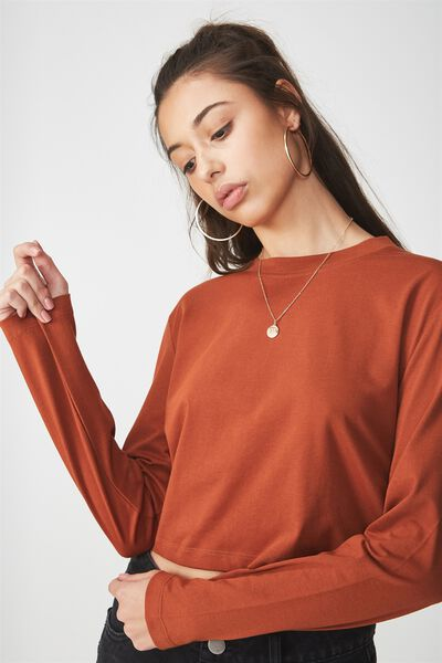 The Urban Long Sleeve Top, GINGERBREAD