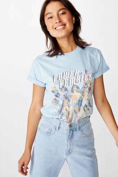 Classic Tv Movie T Shirt, LCN WB WONDER WOMAN POWER/CERULEAN