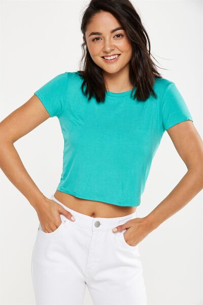 The Baby Tee, SEA GREEN