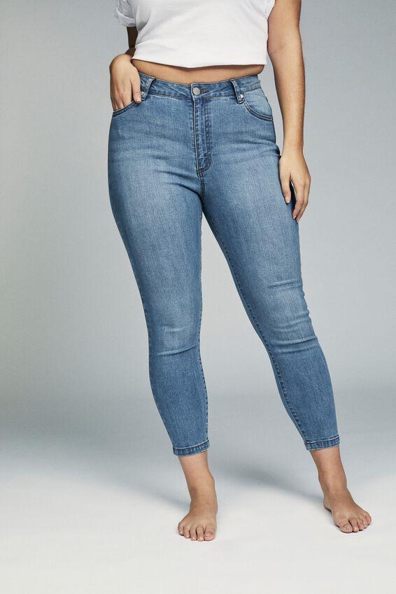 Curve Adriana High Skinny Jean, BOSTON BLUE