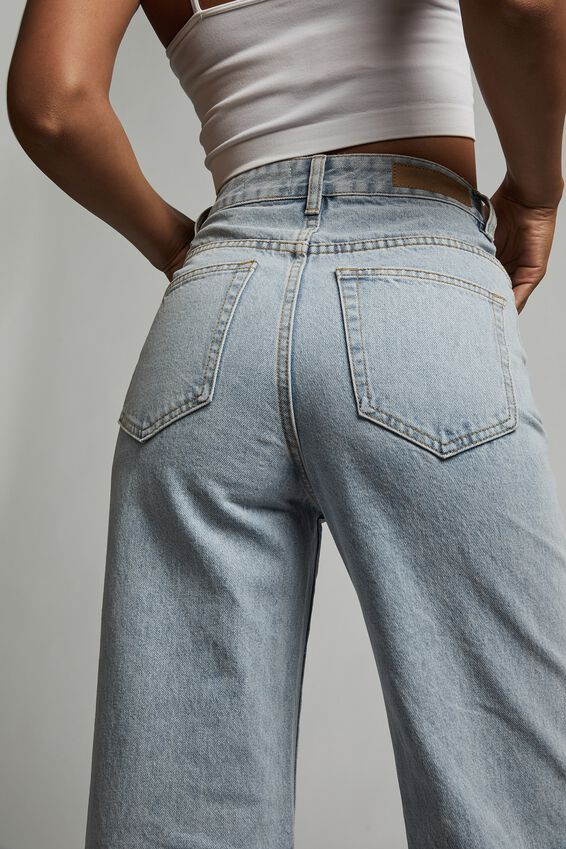Long Wide Leg Jean, ROADKNIGHT BLUE