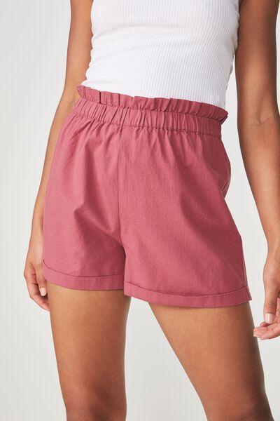 Maisy Paperbag Short, DECO ROSE